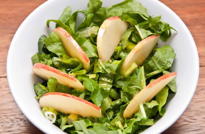 recette de salade de roquette pommes pak-choi