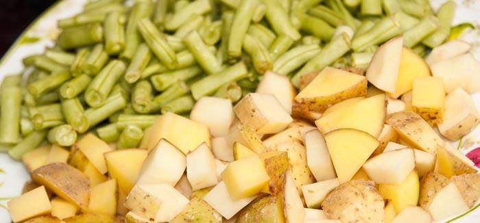 ingrédients pour la recette de curry de légumes