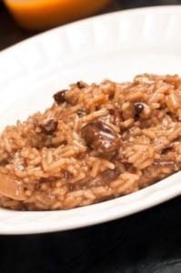 recette italienne de risotto aux champignons