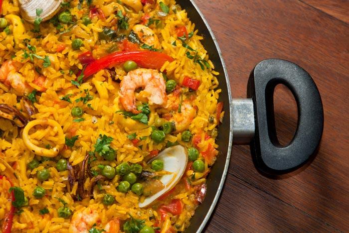 paella aux fruits de mer, recette de cuisine