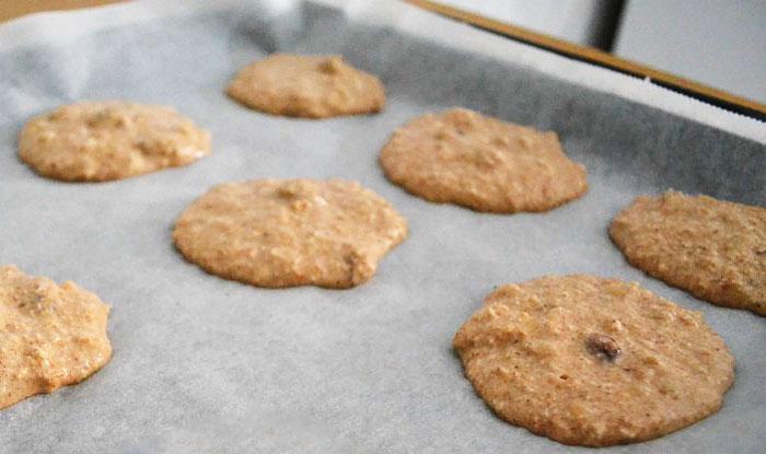 recette de cookies aux flocons d'avoine healthy