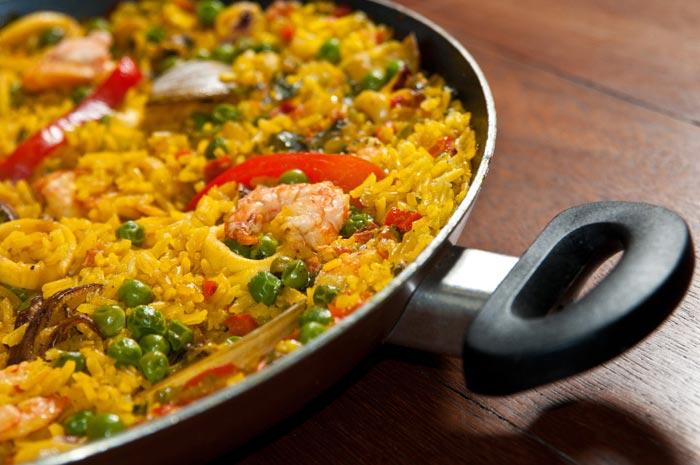 recette espagnole de paella aux fruits de mer