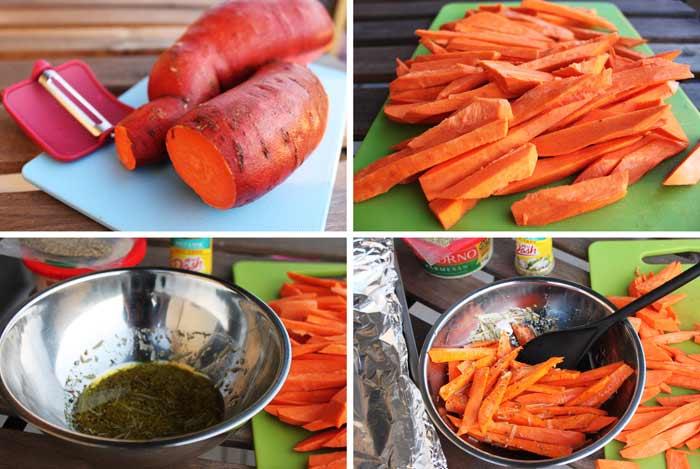 recette de patates douces au four