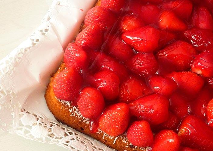 recette healthy de tarte aux fraises sans sucre ajouté