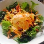recette de salade avec vinaigrette au yaourt et curry