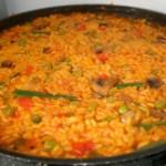 Arroz viudo, ou « riz veuf», plat typique de la cuisine espagnole
