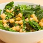 recette de salade de pois chiches et épinards (recette de cuisine)