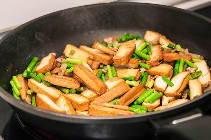 tofu aux légumes vertes