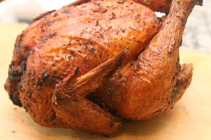 poulet roti au four