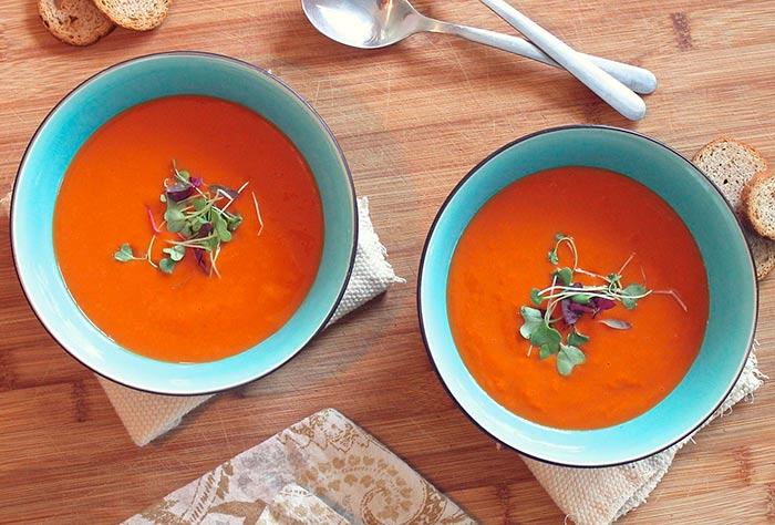 recette de soupe de tomates maison