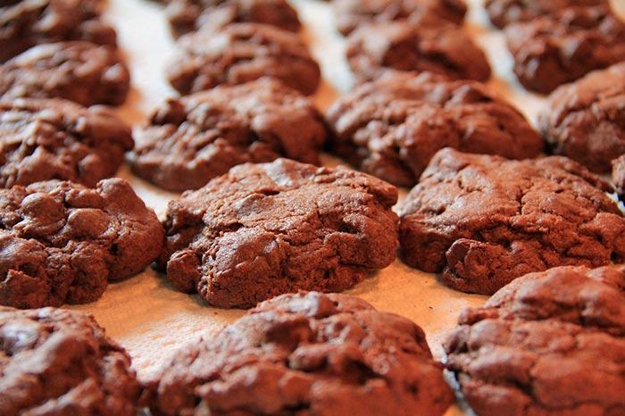 cookies tout chocolat : recette de cookies gourmands de grand-mère, très faciles