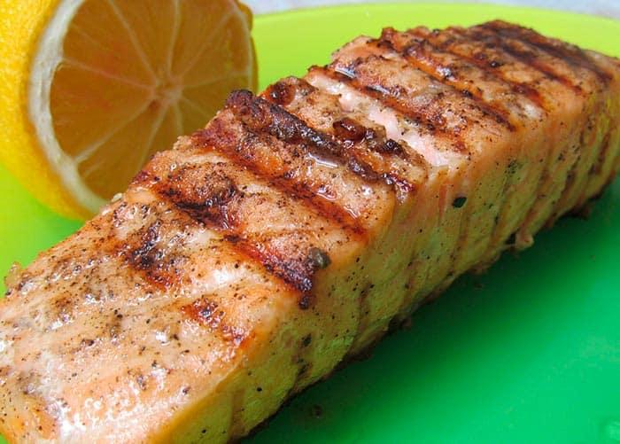 recette de pavé de saumon grillé (recette facile de cuisine)