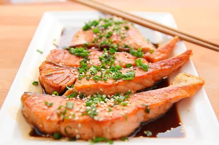 pavé de saumon grillé en sauce soja, recette de cuisine