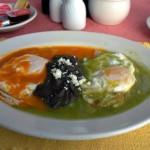 œufs divorcés, recette de cuisine mexicaine typique