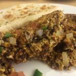 Des œufs avec de la viande de bœuf salée, ou «Machaca » : une spécialité mexicaine