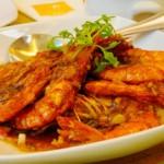 crevettes à la diabla ou camarones à la diabla, plat typique mexicaine