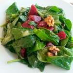 salade d'épinards frais, recette de cuisine facile