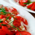 salade de tomate, recette de cuisine