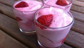 verrines faciles mousse a la fraise