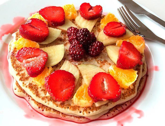pancakes aux flocons d'avoine, bas en calories : recette healthy