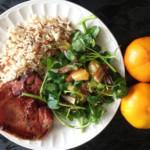 recette de salade originale aux dattes et à la mandarine