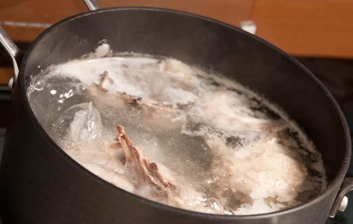 recette de fond blanc de volaille