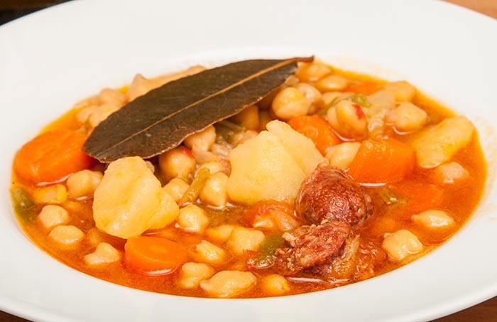 soupe de pois chiches, recette espagnole