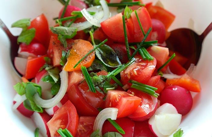 salade de tomates recette