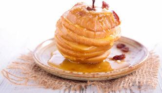 pommes au four caramélisées, recette de cuisine facile pour le repas de Noël