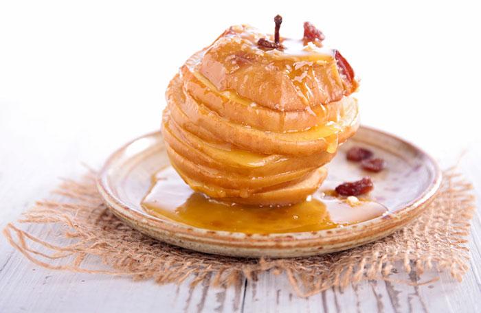 recette pommes au four caramélisées avec la bonne variété de pommes pour cuire au four