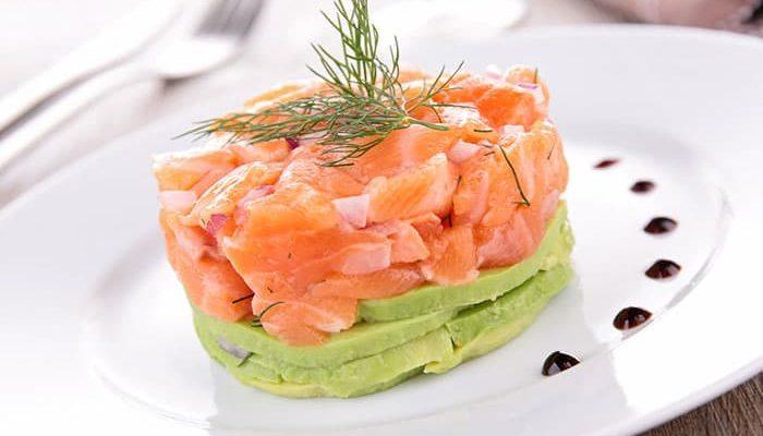 recette de tartare de saumon avocat