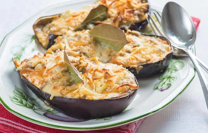 aubergines farcies au four, recette de cuisine facile et rapide