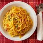 pâtes carbonara, recette de cuisine italienne