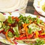 fajitas au poulet, recette de cuisine facile