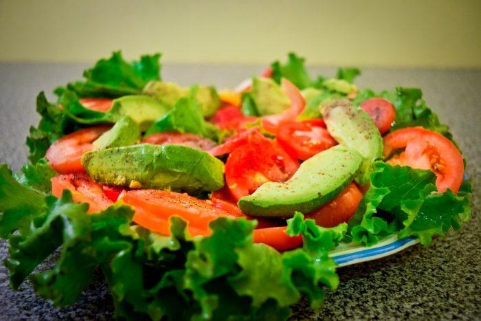 recette de salade healthy : salade avocat